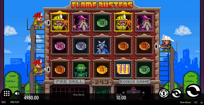 flame busters casino bonus screenshot