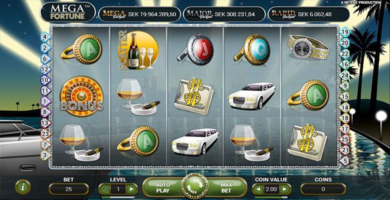 mega fortune casino bonus screenshot
